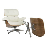 Eame Lounge chair w/ ottoman chrome base
