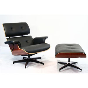 Eame Lounge chair w/ ottoman black base
