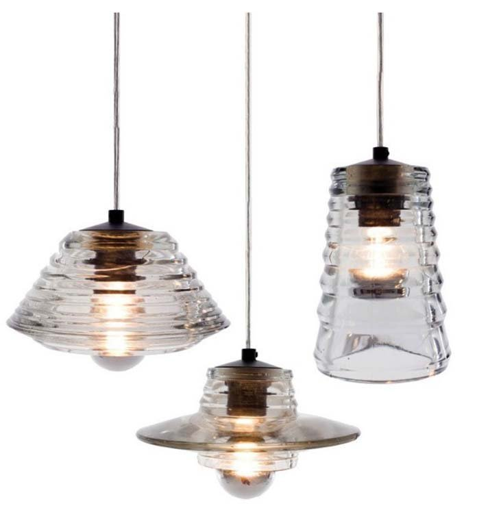 Tom Dixon Pressed Glass Pendant Lamp