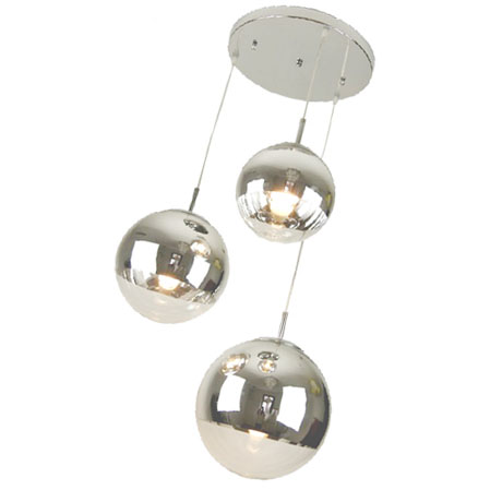 Tom Dixon Mirror 3PCS Ball Pendant Lamp