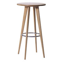 Solid beech wood Bar stool high