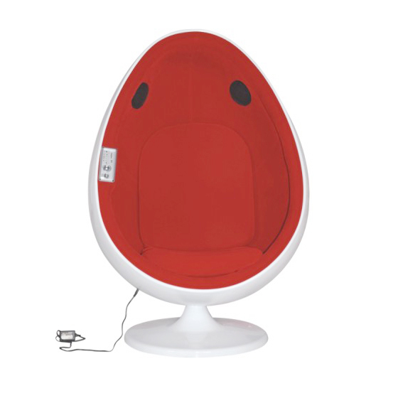 Egg chair with speaker