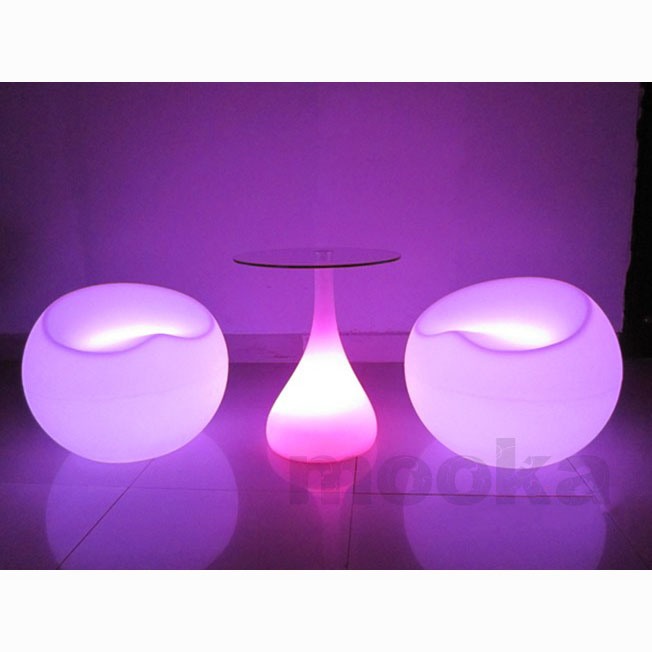 LED Scoop Ball Chair