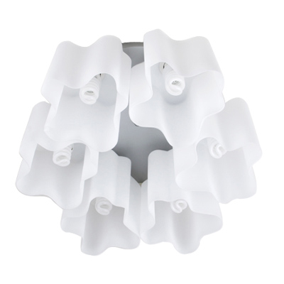 Artemide Logico Quadruple Nest ceniling Lamp  (6 Glass Chimney)
