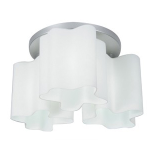 Artemide Logico Quadruple Nest ceniling Lamp  (Round 3 Glass Chimney )