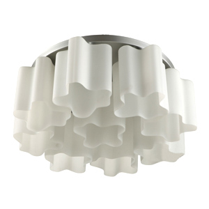 Artemide Logico Quadruple Nest ceniling Lamp  (9 Glass Chimney)